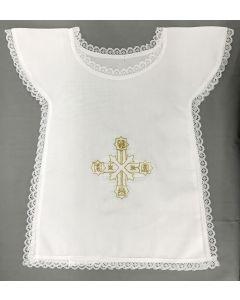 Baptismal Bib Alpha-Omega Pax Cross