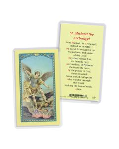 Prayer To St Michael Holy Card