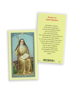 St Monica Prayer Holy Card