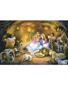 No Room at the Inn 1000 piece Puzzle 19x30 inches, Art by Tom DuBois