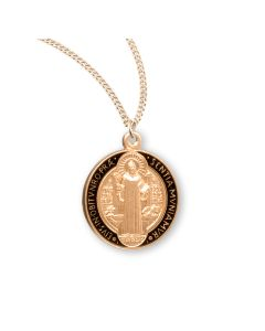 St Benedict Jubilee Gold Over Sterling Silver M