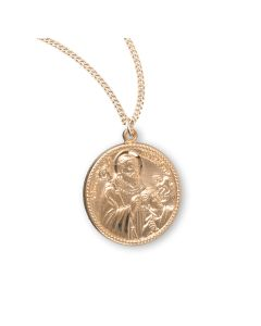 Gold Over Sterling Silver St Benedict Exorsism
