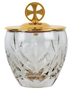 Crystal Ablution Cup Gold Plate Cover