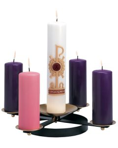 Advent Wreath /W spikes