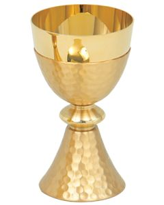 Chalice Gold Plate Hammered Finish