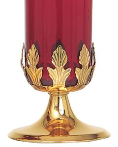 Votive Stand Base Gold Plate