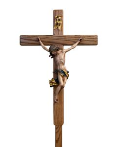 "Wood Carved 12"" corpus Possessional Cross"