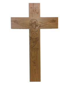 5' Crucifix with v-carved corpus