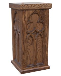 Stand with 4 carved sides