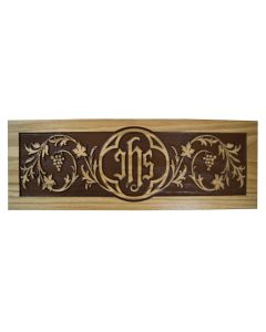 Missal Stand Carved front IHS and Grapes