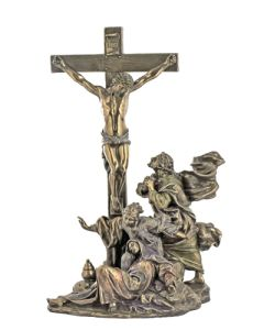 "Crucifixion Masterpiece, cold-cast bronze, 11"""
