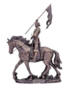 St Joan Of Arc Statue In Lightly Hand-Painted Col