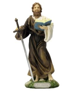 """St Paul Statue, Fully Hand-Painted Color, 8"""""""
