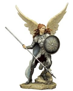 """Archangel Raphael, Full Hand-Painted Color, 9"""""""