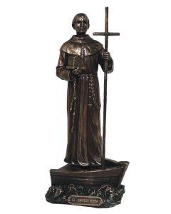 St Junipero Serra, Lightly Hand-Painted, Cold Cas